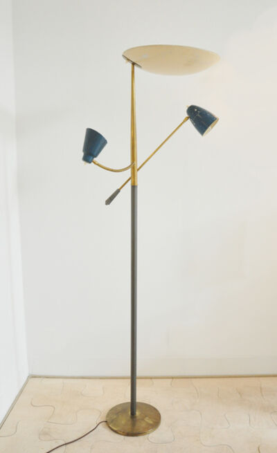 Franco Buzzi, 'Standing lamp in brass, lacquered metal and wood', ca. 1955