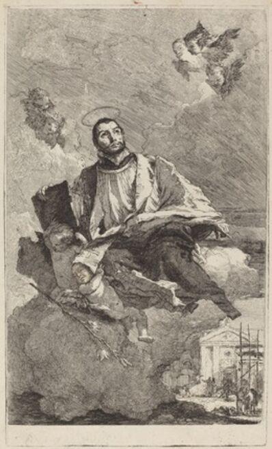 Giovanni Domenico Tiepolo, 'Saint Gaetano of Thiene', 1757 or after