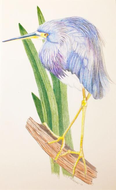 Sylvia Beckman, 'Blue Heron', 2017