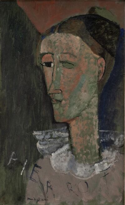 Amedeo Modigliani, 'Self-Portrait as Pierrot', 1915
