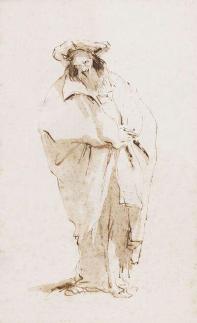 Giambattista Tiepolo, 'A bearded oriental', 1745-1750