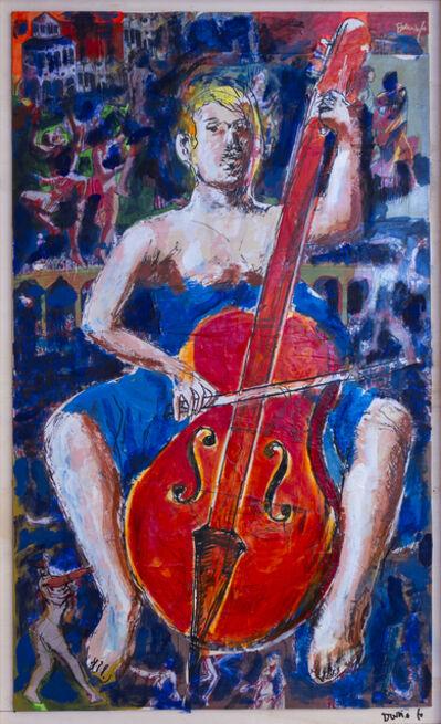 Dario Fo, 'Donna con violoncello', 2013