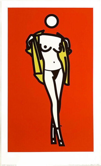 Julian Opie, 'Woman Taking Off Man Shirt 5', 2003