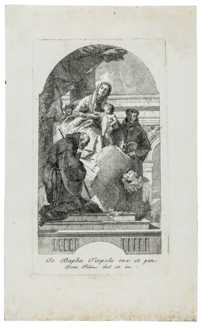 Giovanni Domenico Tiepolo, 'The Virgin and Child with St. Francis of Paola and St. Anthony of Padua', circa 1760