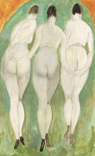 Alfons Walde, 'The Three Graces', ca. 1919