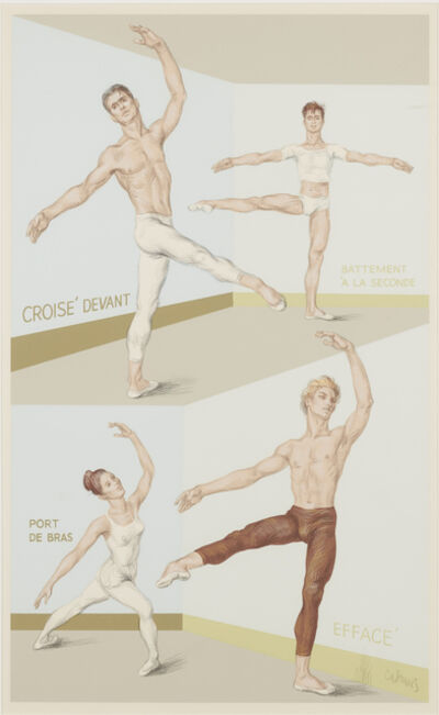 Paul Cadmus, 'Four Ballet Positions', 1946-47/1983