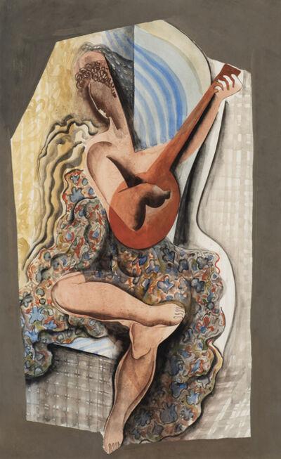 Béla Kádár, 'Woman Playing the Guitar', ca. 1950
