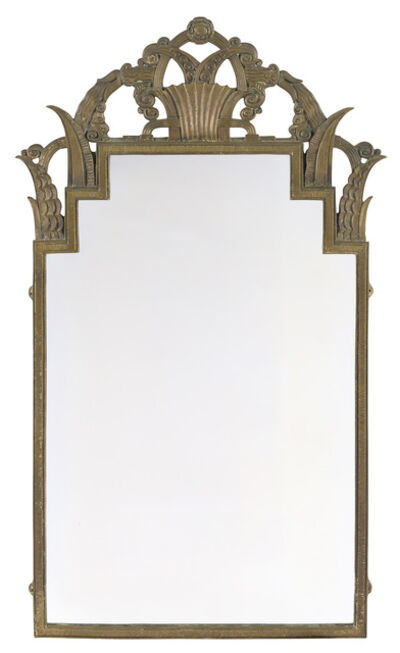 Marcel Bergue, 'Art Deco Bronze Mirror', Circa 1925