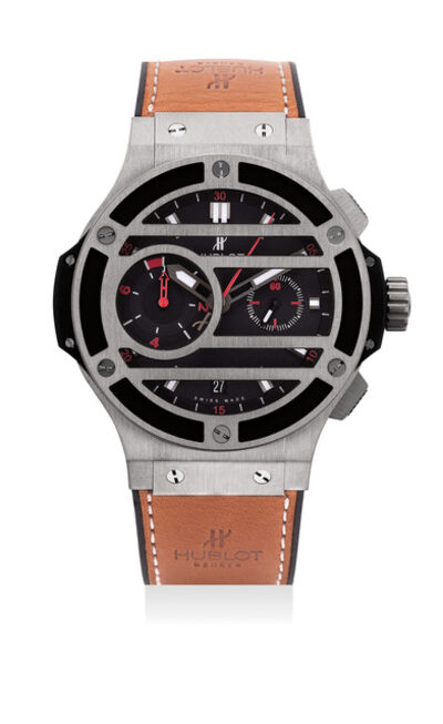 Hublot, 'An attractive limited edition titanium flyback chronograph wristwatch, numbered 116 of a limited edition of 500 pieces', Circa 2012