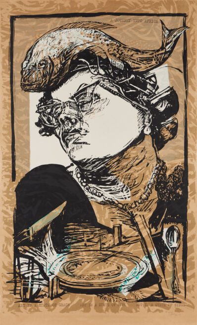 William Kentridge, 'Art in a State of Grace, from Art in a State of Siege', 1988