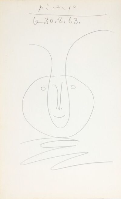 Pablo Picasso, 'Tête de faune', ca. 1963