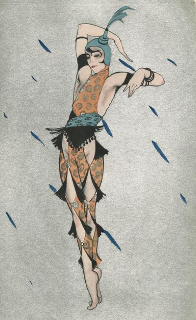 """Walter Schnackenberg, '""""Oriental Dancer"""", Ballet und Pantomime (plate 18)', 1920"""