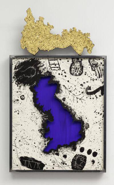 Mimmo Paladino, 'Map of Great Britain', 2009