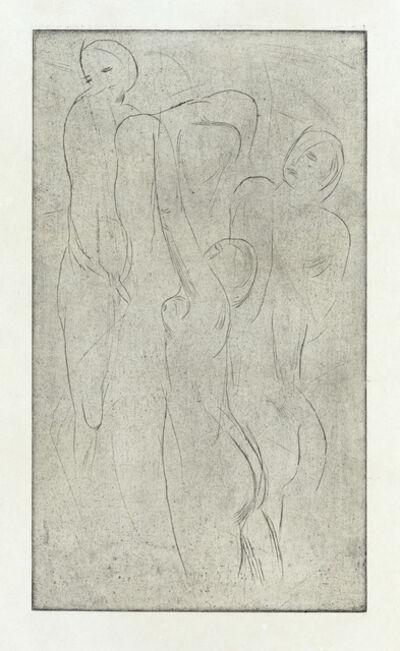 Wilhelm Lehmbruck, 'Untergehende Menschen', 1914