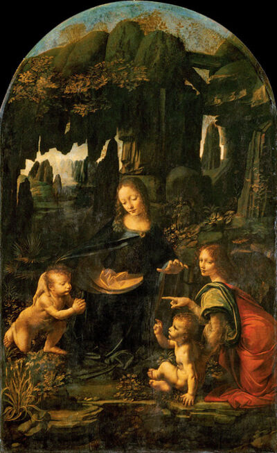 Leonardo da Vinci, 'Virgin of the Rocks', ca. 1483-1486