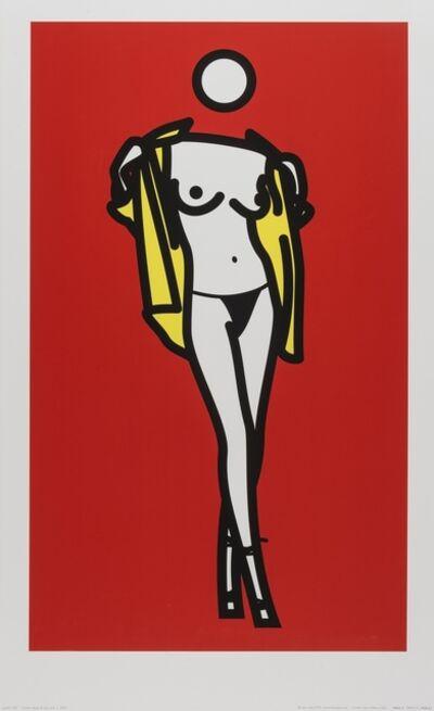 Julian Opie, 'Woman taking off man's shirt (Cristea p.244)', 2003