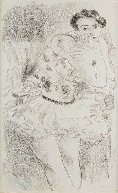 Henri Matisse, 'Danseuse debout, accoudée au repos (Dix danseuses)', 1927