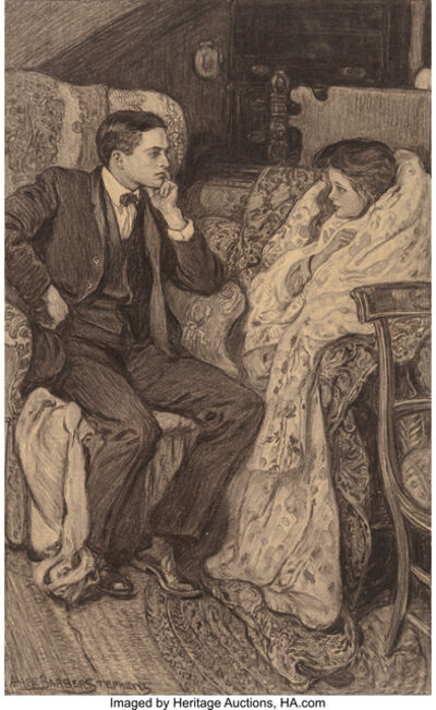 Alice Barber Stephens, 'A Conversation'