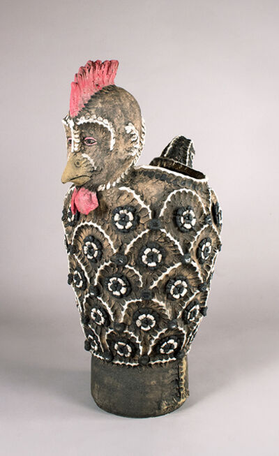 George Rodriguez, 'Silver Laced Rooster Vase', 2020