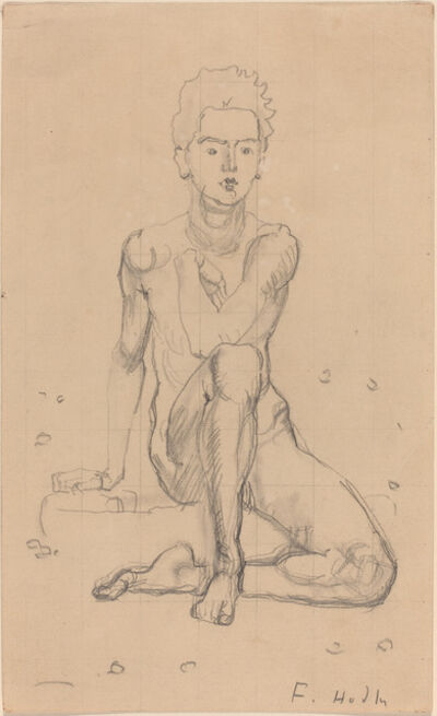 Ferdinand Hodler, 'Hector Posing Nude', 1901