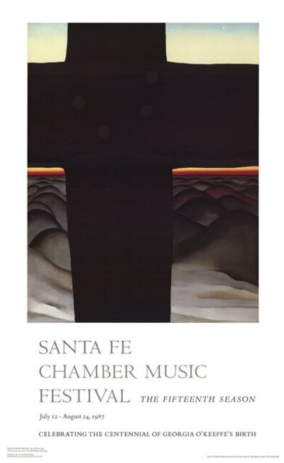 Georgia O'Keeffe, 'Black Cross: New Mexico', 1987