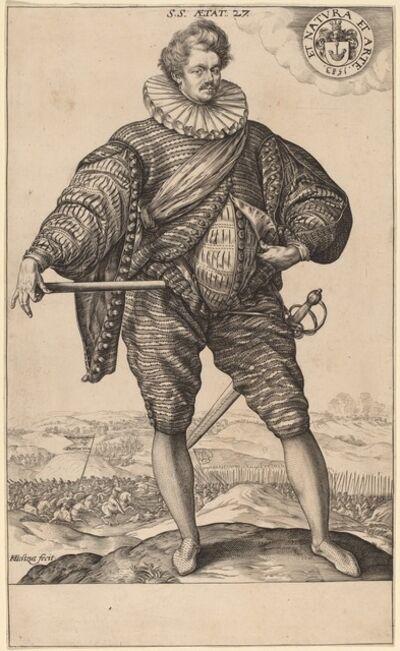Hendrik Goltzius, 'Polish Nobleman Standing (Stanislaus Sobocki at Age 27)', 1583