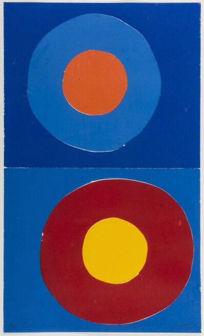 Sir Terry Frost, 'Two Loves For Tredavoe', 1999