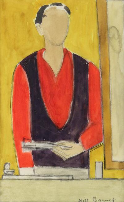 Will Barnet, 'Self-Portrait (Red)', 1967