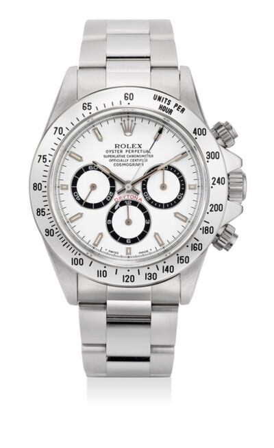 Rolex, 'A very fine and rare stainless steel chronograph wristwatch with bracelet, warranty, presentation box and hang tags', Circa 1995