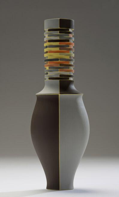 Peter Pincus, 'Brown with Yellow Seams Vase', 2016