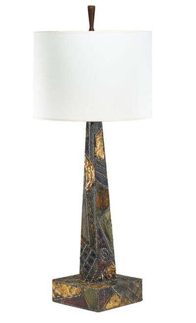 Phil Powell, 'Rare tall table lamp with finial by Phil Powell', 1969