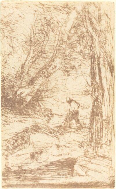 Jean-Baptiste-Camille Corot, 'The Woodcutter of Rembrandt (Le Bucheron de Rembrandt)', 1853