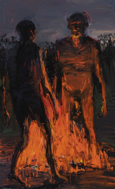 Euan Macleod, 'Figures Across Fire', 2019