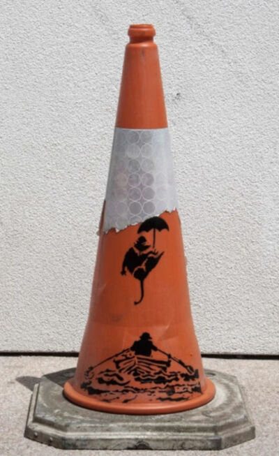 Banksy, 'Parachute Rat (Cone)', ca. 2003