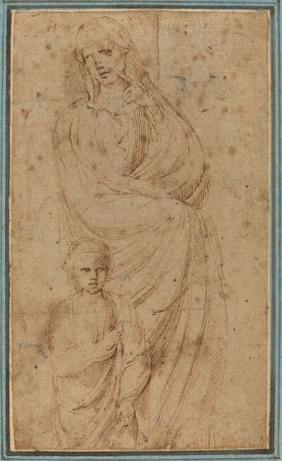 Girolamo da Carpi, 'Two Figures'