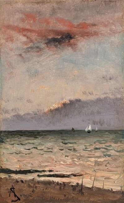 Alfred Stevens, 'Pair of seascapes '