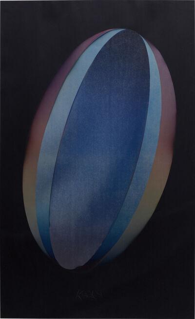 Larry Bell, 'ELBK 10 (Ellipse on Black 10)', 1981