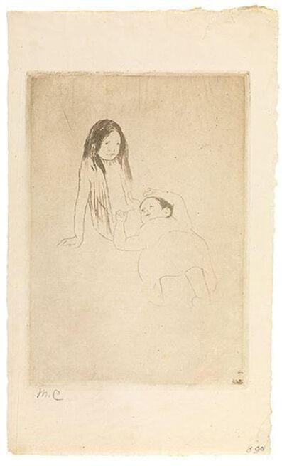 Mary Cassatt, 'Two Children on the Grass', ca. 1886