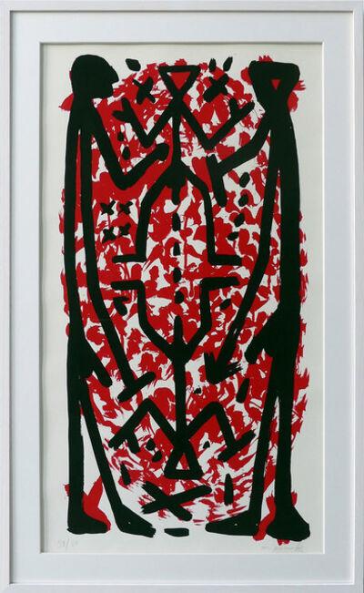 A.R. Penck, 'Standart Hoch Rot II', 1997