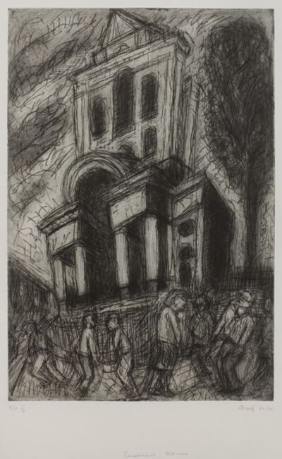 Leon Kossoff, 'Christ Church, Autumn'