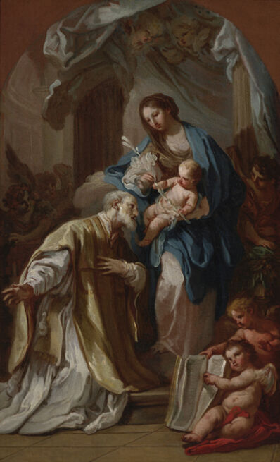 Sebastiano Conca, 'The Madonna Appearing to St. Philip Neri', 1740