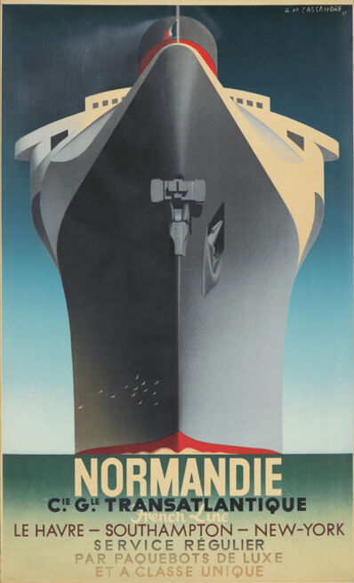 A.M. Cassandre, 'Normandie / Service Régulier', 1935