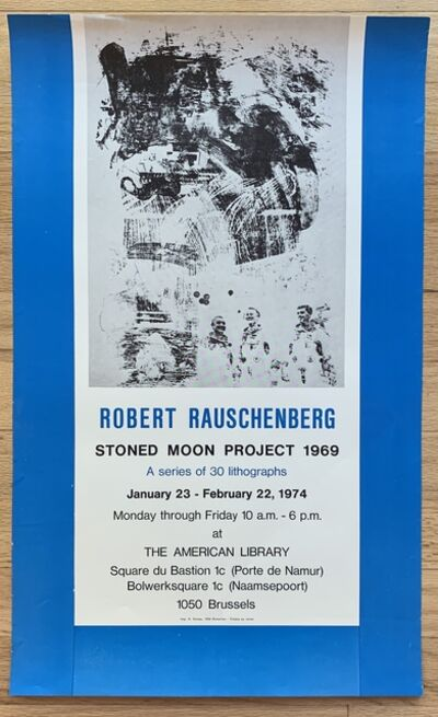 Robert Rauschenberg, 'Original Stoned Moon Project Exhibition Poster ', 1974