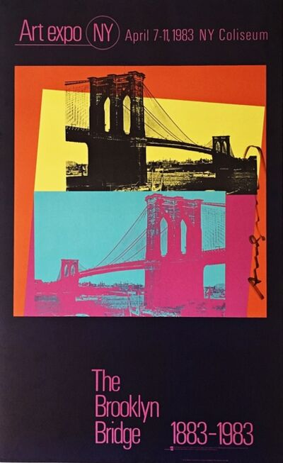 Andy Warhol, 'Art Expo NY - The Brooklyn Bridge 1883 - 1983 (Hand Signed)', 1983