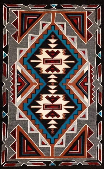 Navajo artist, 'handmade finest authentic Navajo rug', 2019
