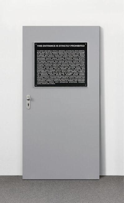 Santiago Sierra, 'Aviso Público / Public Notice', 2006
