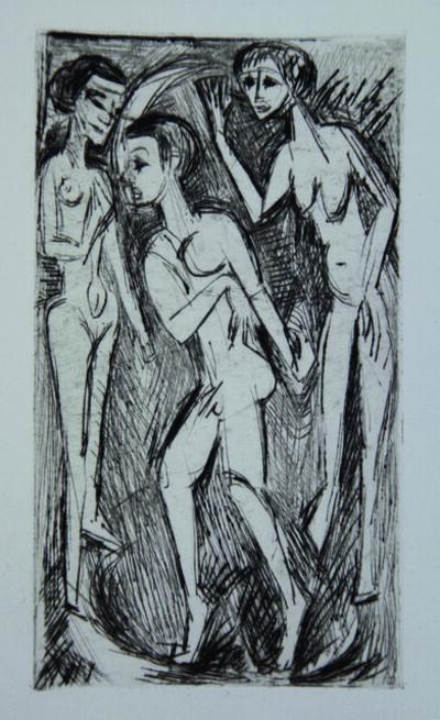 Ernst Ludwig Kirchner, 'Der Tanz zwischen den Frauen ', 1919