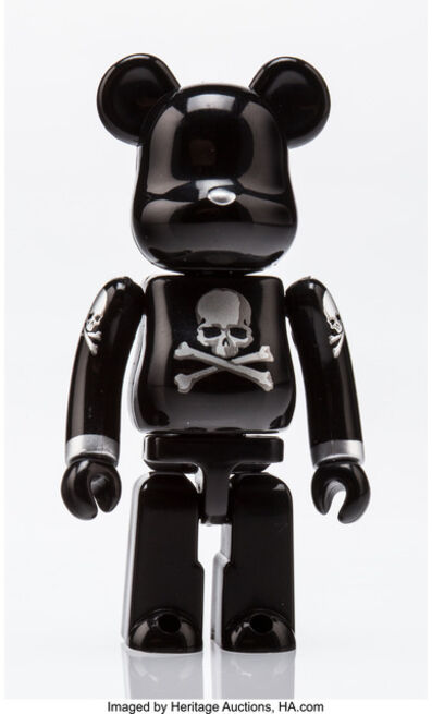 BE@RBRICK X mastermind JAPAN, 'Skull and Crossbones (Black and silver) 100%', 2013