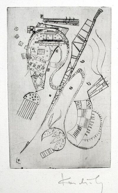 "Wassily Kandinsky, 'Etching for Stephen Spender ""Fraternity""', 1939"