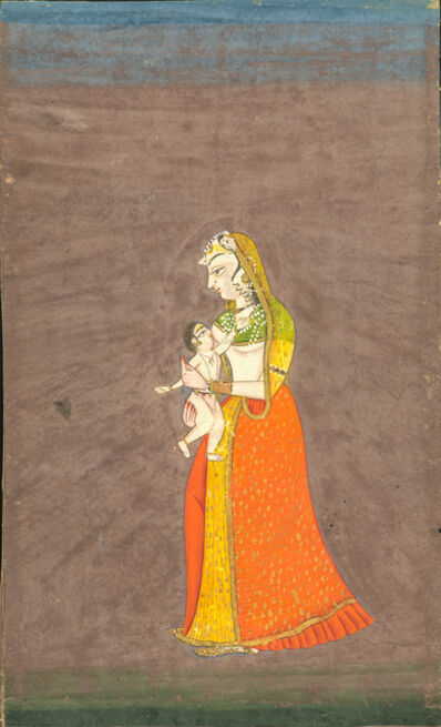 India, Rajasthan, 'Mother and Child', c. 19th century